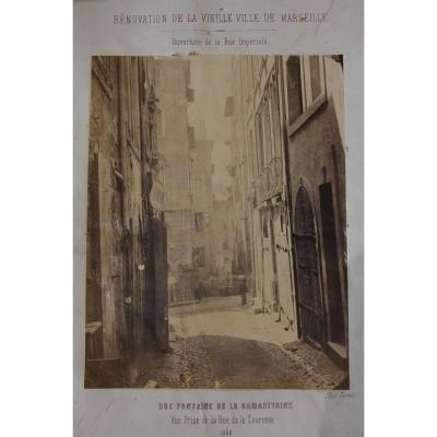 """Rénovation de la vieille ville de Marseille"" Photo Terris 1862"