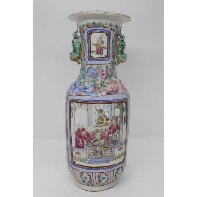 19th Century Chinese Canton Vase
