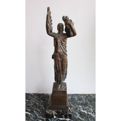 Antoine Sartorio Bronze, Dated From 1925, Project For A Monument