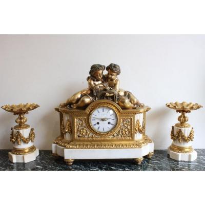 Napoleon III Mantel Clock Set