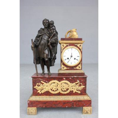 19th Century Clock Representing A Roman Soldier
