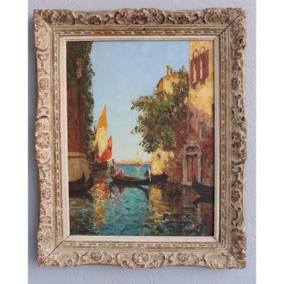 View Of Venice By Charles Cousin 19th Century