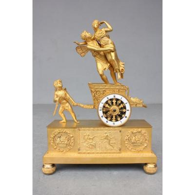 19th Century Restauration Chariot Clock