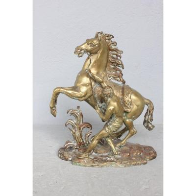 Coustou Horse In Bronze 19th Century