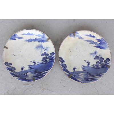 Pair Of Ancient Chinese Plates 18th Century Probably