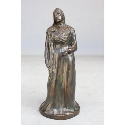 Statuette Américaine En Bronze XIXème Siècle