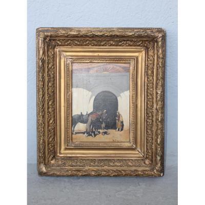 19th Century Oil On Panel By Pasini