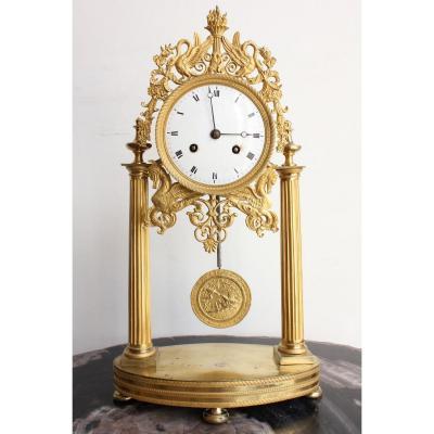 19th Century Bird Decors Clock
