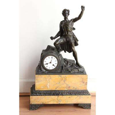 19th Century Large Clock Representing A Character