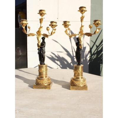 19th Century Empire Period Candelabras