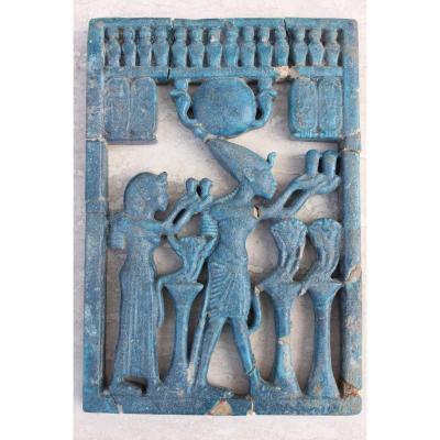 Plaque En Bas-relief Egyptien Epoque Antique