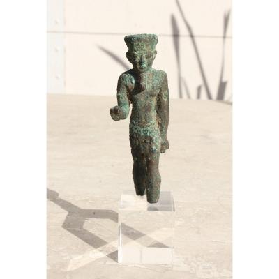 Sujet En Bronze Représentant Amon