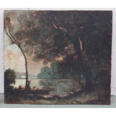 19th Century Landscape Painting Unsigned
