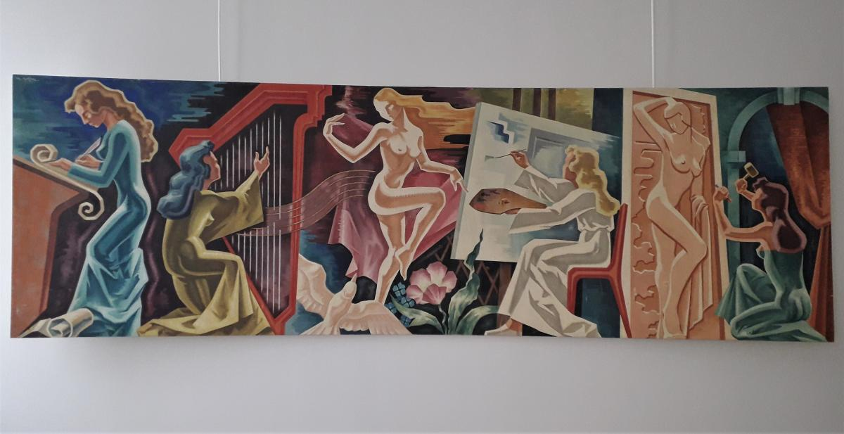"""Huile Sur Toile  """" Les Arts """""""
