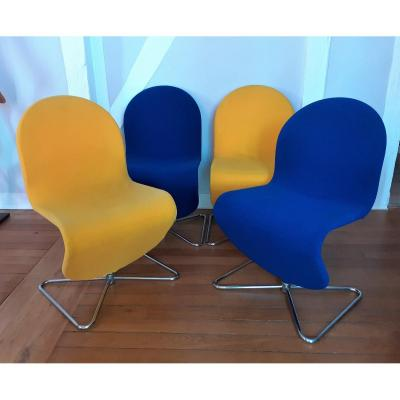 Series Of  Chairs 1 2 3 By V. Panton