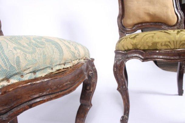 Série De 6 Chaises à Châssis Lombardes, 18ème Siècle-photo-1