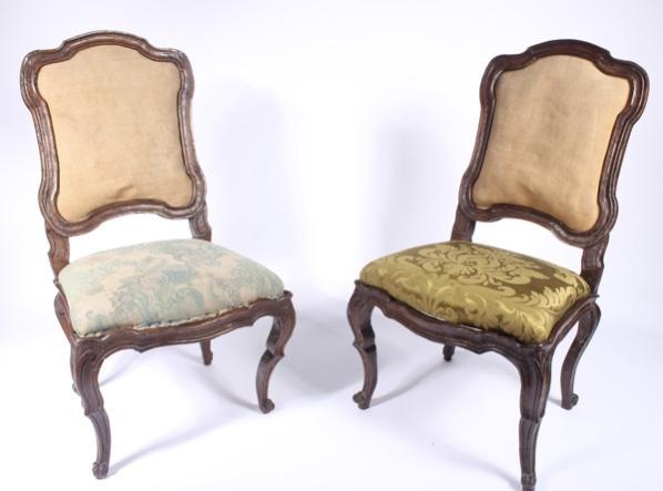 Série De 6 Chaises à Châssis Lombardes, 18ème Siècle-photo-2