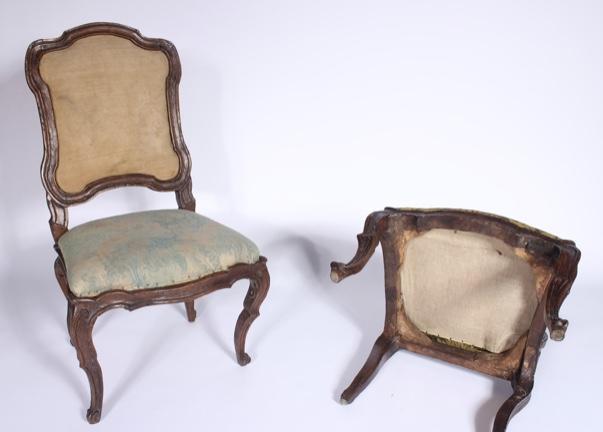 Série De 6 Chaises à Châssis Lombardes, 18ème Siècle-photo-3