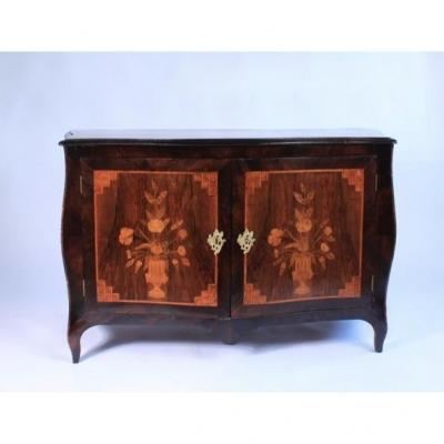 Pretty French Dresse In Marquetry 19th Century