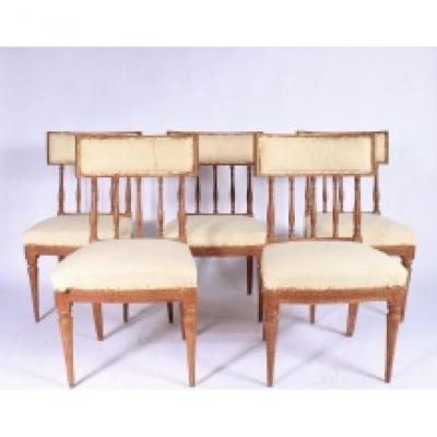 Series Of 5 Period Gustavian Chairs