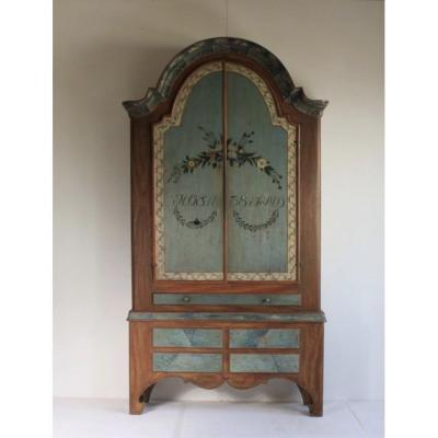 Exceptional Painted Swedish Wardrobe