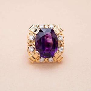 Bague Garland Améthyste Diamants