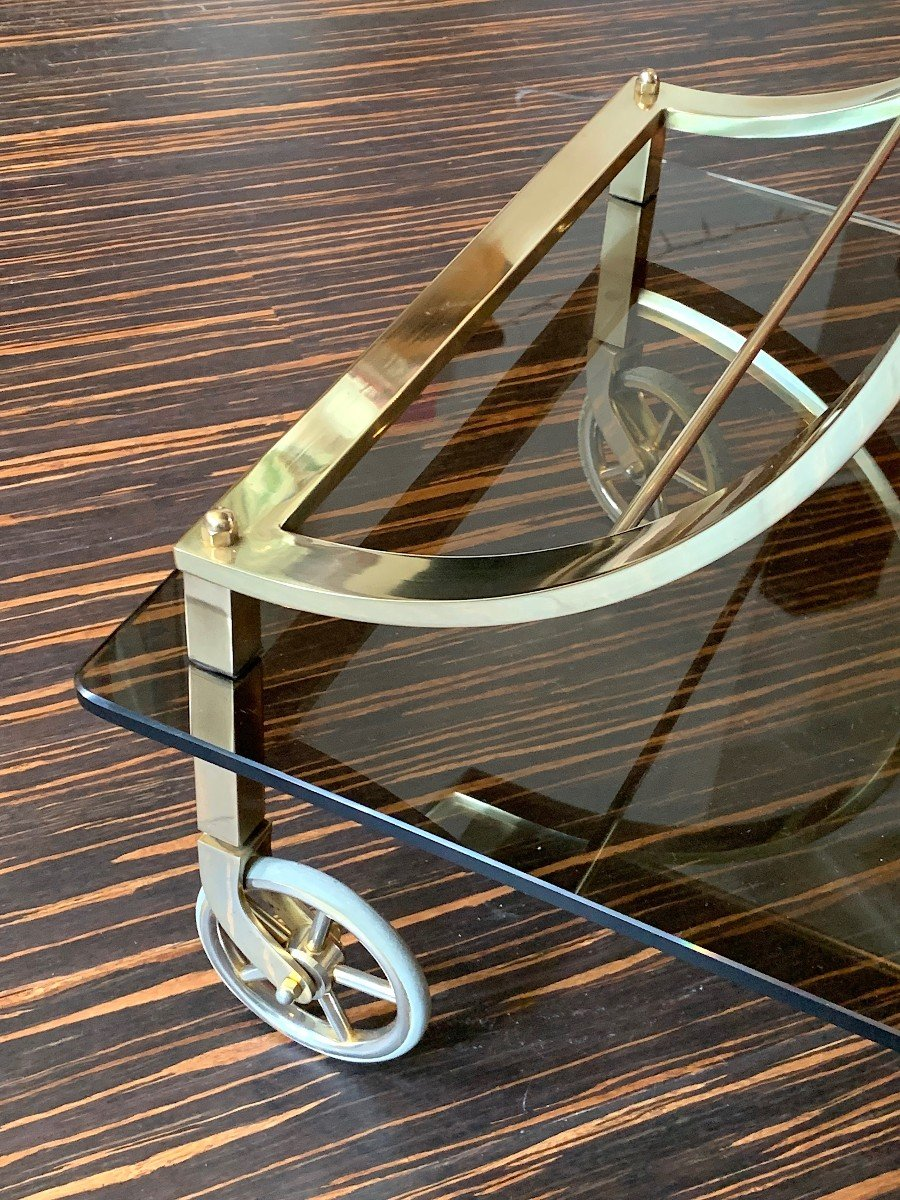 Neoclassical Style Rolling Table In Bronze Maison Jansen-photo-4