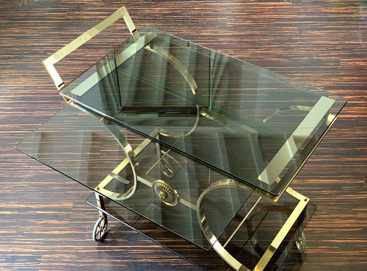 Neoclassical Style Rolling Table In Bronze Maison Jansen-photo-7