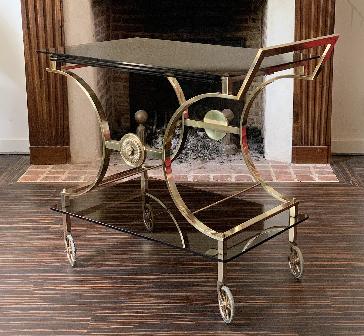 Neoclassical Style Rolling Table In Bronze Maison Jansen