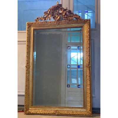 Louis XV Style Trumeau Mirror Late XIXth