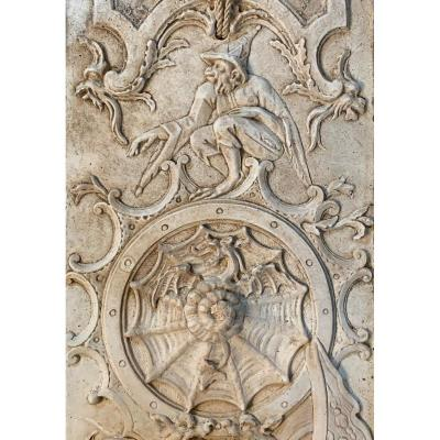 Suite Of Four Panels With Grotesques Decoration - XIXth Panels