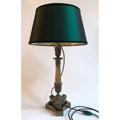 Torch Mounted Lamp - Bronze 1st Empire -