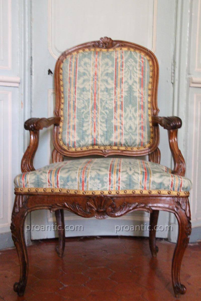 Fauteuil Régence XVIII E Siècle Italie