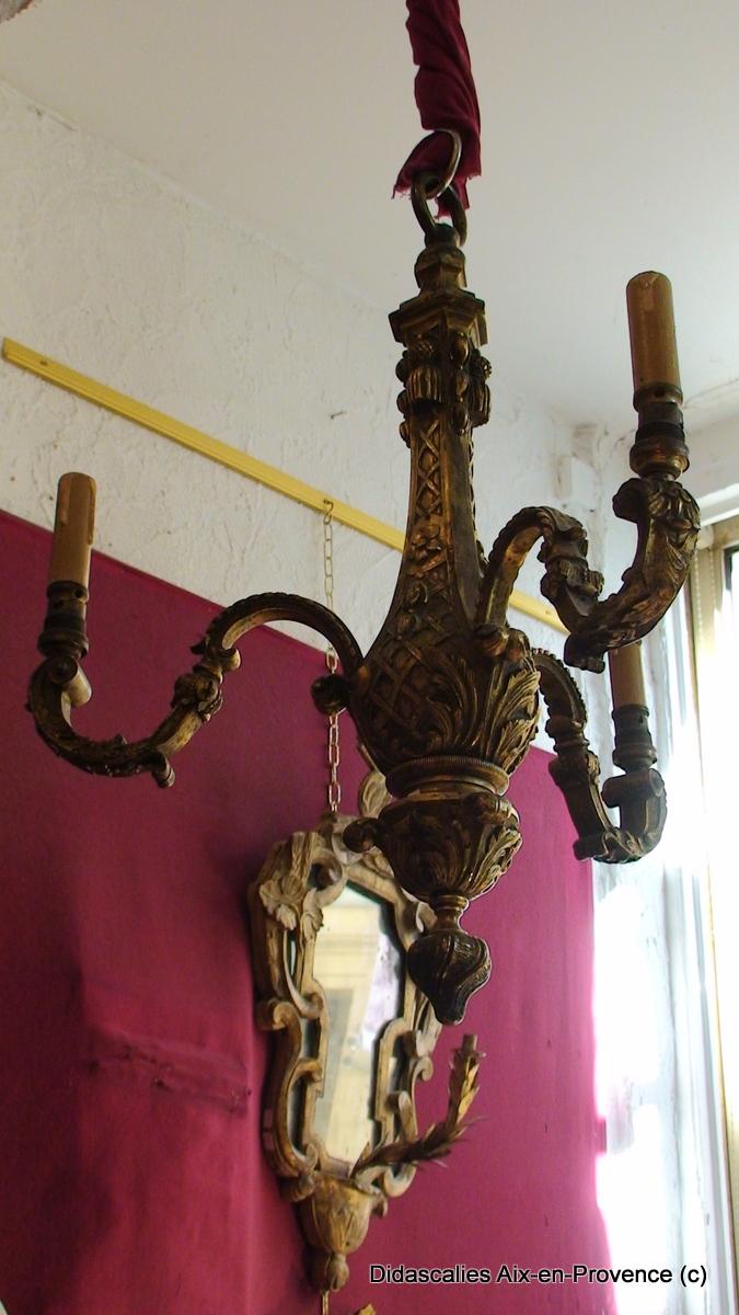 Bronze Chandelier Style Louis XIV, When S. 19th