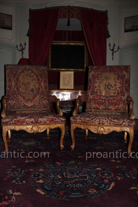 Wooden Chairs And Golden Tapestry Time Eighteenth Century Regence