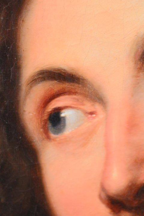 Portrait De Georg Petel, Huile Sur Toile, d'Après Anton Van Dyck, Début Du XVIIIe Siècle-photo-1