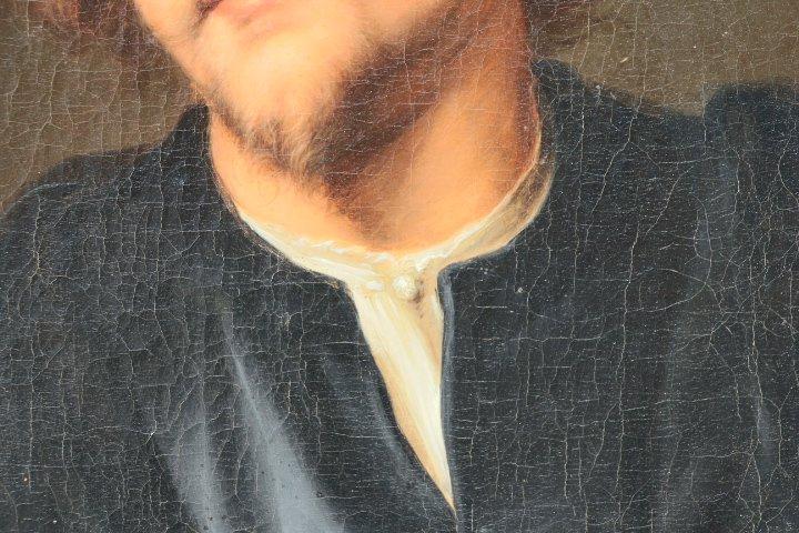 Portrait De Georg Petel, Huile Sur Toile, d'Après Anton Van Dyck, Début Du XVIIIe Siècle-photo-2