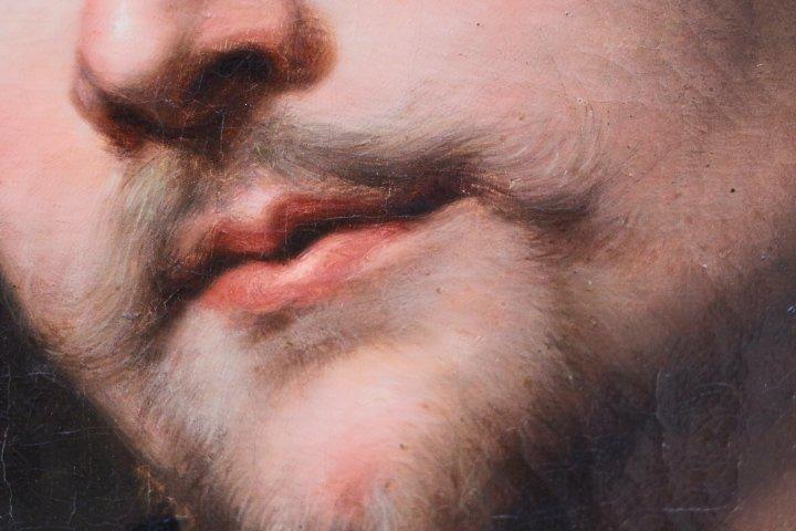 Portrait De Georg Petel, Huile Sur Toile, d'Après Anton Van Dyck, Début Du XVIIIe Siècle-photo-3