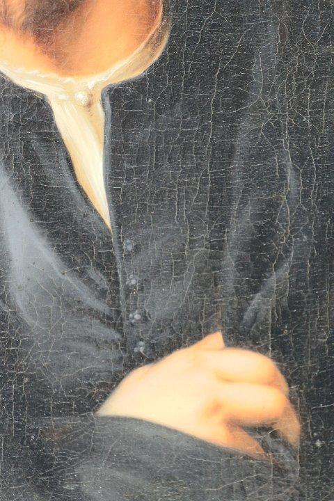 Portrait De Georg Petel, Huile Sur Toile, d'Après Anton Van Dyck, Début Du XVIIIe Siècle-photo-4
