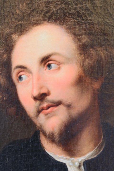 Portrait De Georg Petel, Huile Sur Toile, d'Après Anton Van Dyck, Début Du XVIIIe Siècle-photo-7