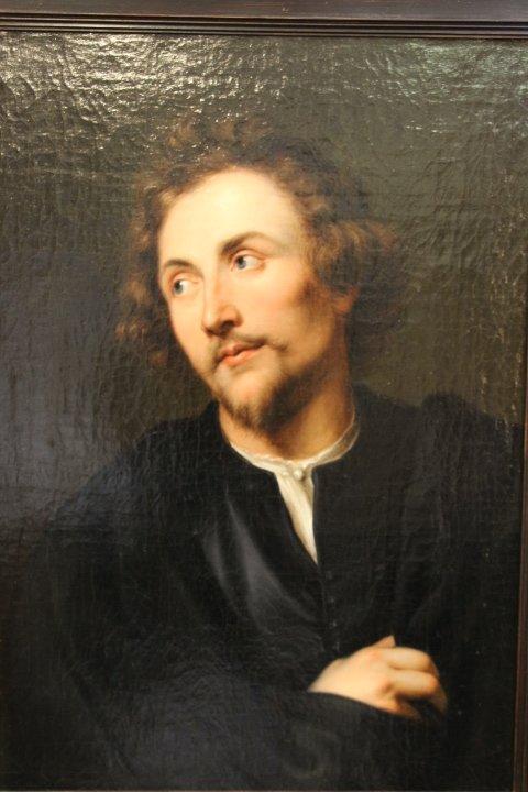 Portrait De Georg Petel, Huile Sur Toile, d'Après Anton Van Dyck, Début Du XVIIIe Siècle