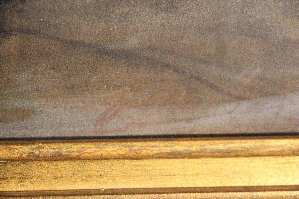 """""""Carnaval de Venise"""", gouache, pastel, crayon, signé Georges CLAIRIN, Orientalisme, XIXe siècle-photo-8"""