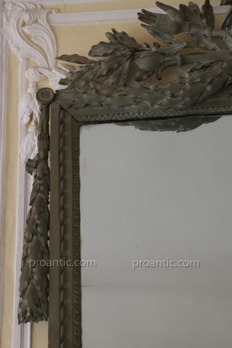 Miroir à deux vues, époque Louis XVI-photo-3