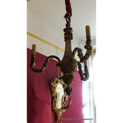 Bronze Chandelier Style Louis XIV, When S. 19th