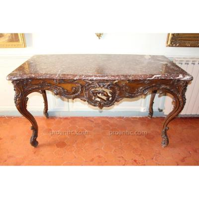 Table à Gibier , époque Louis XV, XVIIIe Siècle