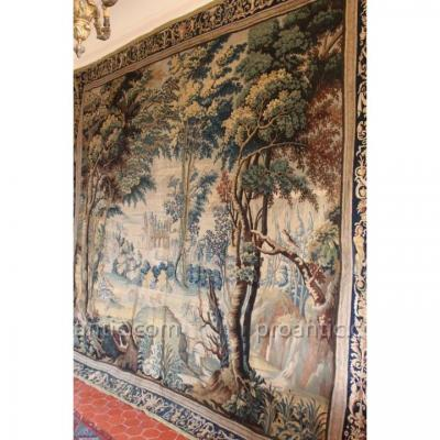 Animated Greenery Of Characters, Aubusson, XVIIth Century