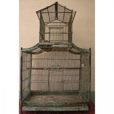 Rare Cage à Oiseaux, Forme Pagode, époque Louis XV, Seconde Moitié Du XVIIIe Siècle