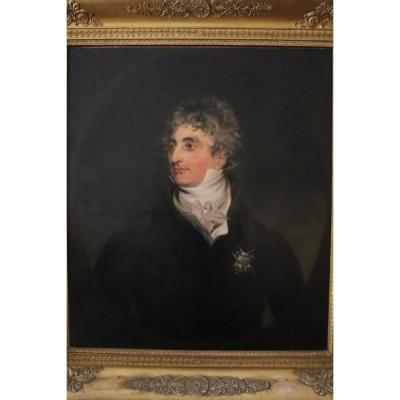 Portrait Of English Aristocrat, Follower Of Thomas Lawrence, Early 19th Century.