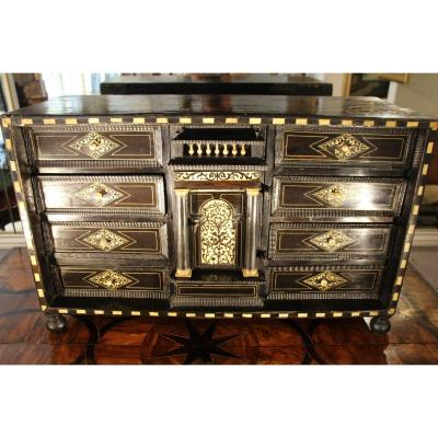 Cabinet In Ebony, Rosewood And Ivory, Italy, Early 17th Century