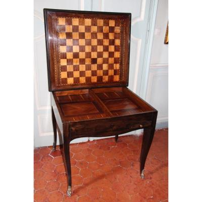 Table  à Jeux d'époque Louis XV, XVIIIe Siècle.